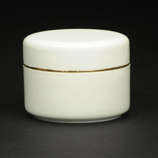 Βαζάκι για καλλυντικά 150ML με χρυσή γραμμή
